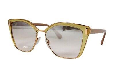 PRADA PR56TS-MQH204 TransparentBrown PinkGold/BrownMirror Silver Grad Sunglasses