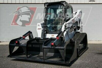Demorecycling Dual Cylinder Grapple Track Loader Attachment For Cat 84 Wide