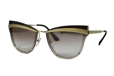 Authentic PRADA PR12US-KNG4O0 Brown Gold/Gradient Brown MIrror Silver Sunglasses