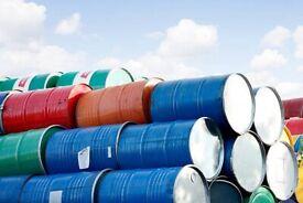 Oil drum pan metal barrels can cut & open for BBQ.