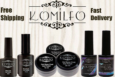 Komilfo Gel LED UV Nail Polish Rubber Base Matte Top No Wipe Top Coat BEST (Best Matte Nail Polish Top Coat)