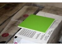 B&Q UTOPIA LIME GREEN CERAMIC WALL TILE, PACK OF 44, (L)150MM (W)150MM
