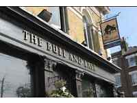 Experienced kitchen porter needed for The Bull and Last pub
