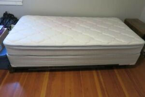 Single bed with like new mattress