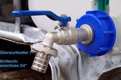 """IBC Adapter mit 3/4"""" Auslaufhahn für IBC- Regenwasser Tank und Kanister #8 WS"""