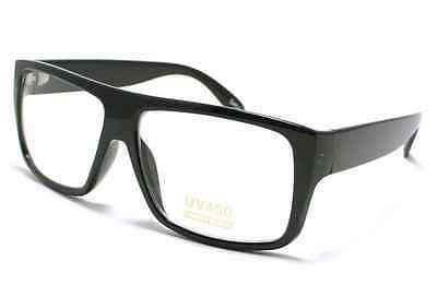 SQUARE Vintage Black Mob Superman Nerd Glasses Clear Lens Sunglasses interview