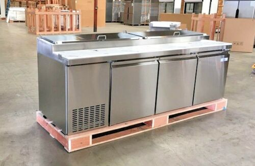"New 92"" Commercial Pizza Prep Table Refrigerator Cooler Depot Model Picl3 Nsf"