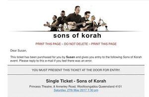 Ticket - Saturday 27/5 - Sons of Koran Springwood Logan Area Preview