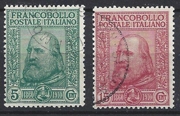 447)) Italien freie Auswahl aus mehrerer Werte oder Sätze gestempelt 1)) 95-96° Garibaldi