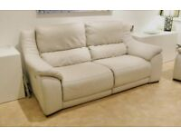 Leather 3 seater sofa & chair from Forrest Furnishing, with full power recliners.