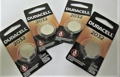 4 Pack Duracell 3V DL2032 / CR2032 Lithium Battery Fresh Dated 2028 comprar usado  Enviando para Brazil