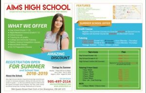 SUMMER SCHOOL, CREDIT COURSES AND TUTORING