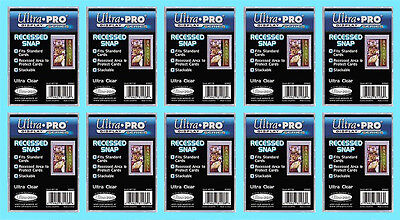 Recessed Snap (10 ULTRA PRO RECESSED SNAP STANDARD SIZE Trading Card Holder Sport Plastic)