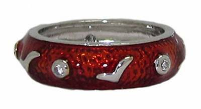 Black Enamel Stack Ring (ring green red black enamel stack band epoxy white gold plate quality 5 6 7)