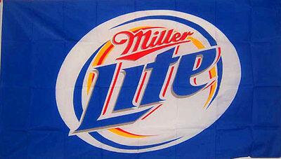 Miller Lite Beer Flag 3' X 5' Deluxe Indoor Outdoor Banner