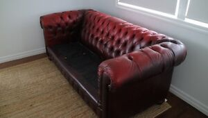 Chesterfield leather sofa Bracken Ridge Brisbane North East Preview