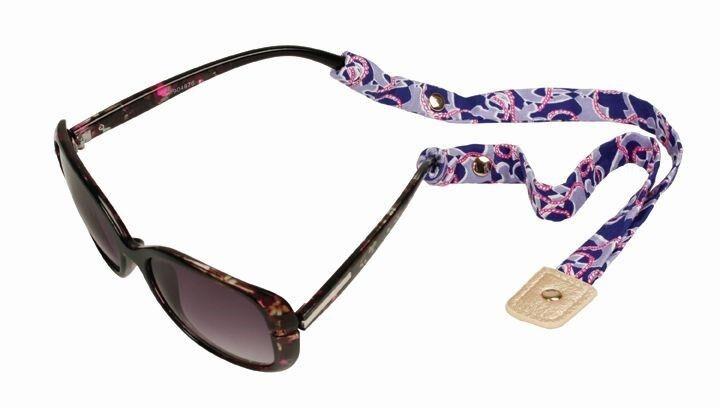 LILLY PULITZER Sunglasses Strap BOOZE CRUISE Nautical Cotton Sunglass New
