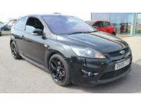 FORD FOCUS 2.5 ST-3 3d 223 BHP QUALITY & BEST VALUE ASSURED (black) 2008