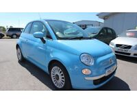 FIAT 500 1.2 LOUNGE 3d 69 BHP - Quality & Best Value Assured (blue) 2012