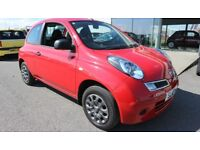 NISSAN MICRA 1.2 VISIA 3d 80 BHP - QUALITY & BEST VALUE ASSURED (red) 2010