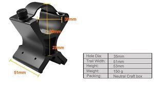 30mm Magnetic Flashlight/Torch Rifle/Gun Barrel Mount, Fits P7 LED Lenser