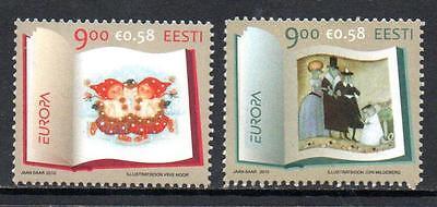 ESTONIA MNH 2010 SG618-619 EUROPA - CHILDREN'S BOOKS