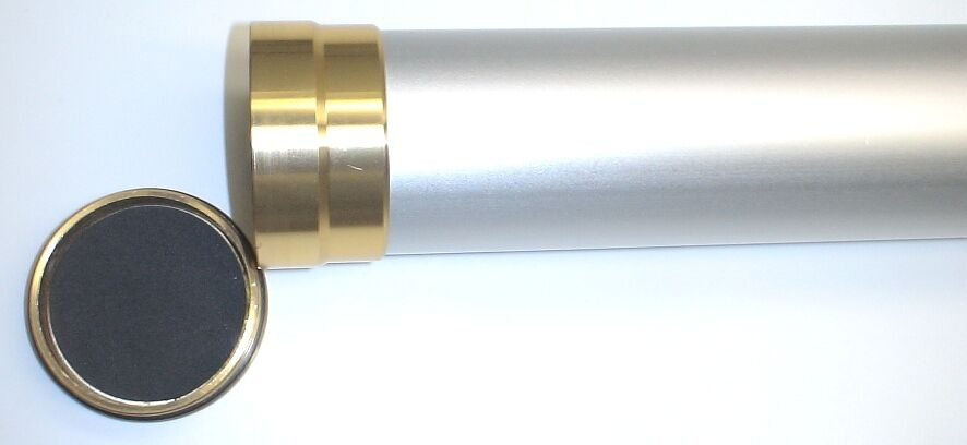 Fly Rod Tube Brushed Aluminum Finish W/brass Ends 2 X 32  For 10'-0 4 Pcs