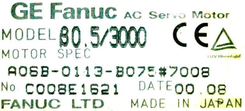 Fanuc Motors-ac Servo A06b-0113-b075-7008 [pz4]
