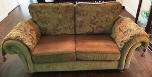 matching love seat and sofa ...reversible cushions