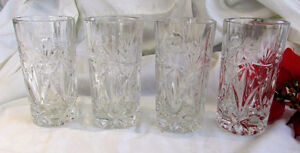Vintage Crystal High Ball Tall Drinking Glasses -- Set of 4 Kitchener / Waterloo Kitchener Area image 6