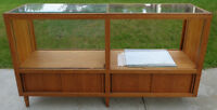 Display Cabinet - Glass top and sliding glass doors