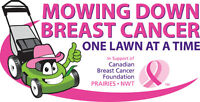 MOWING FOR BREAST CANCER / SPRING CLEAN UPS  / LAWN CARE /