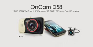 OnCam D58 Dual Lens Dash Cam 170° with Backup Camera
