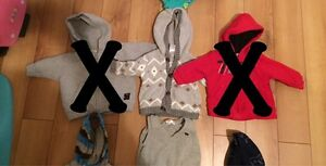Boys 3 month sweaters and house coat