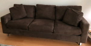 Structube brown sofa couch