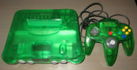 CONSOLE NINTENDO 64 JUNGLE GREEN + 4 JEUX