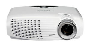 Optoma 1080P Projector w motorized screen and extra bulb
