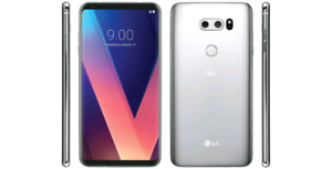 Brand New LG V30 Unlocked 64gb Silver/Argent Neuf & Scellé Phone