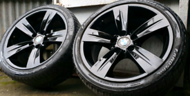"""**18"""" BMW M ALLOY WHEELS STAGGERED PCD 5X120 GLOSS 1 2 3 4 5 6 7 8 SER"""
