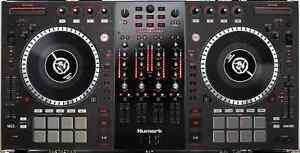 DJ GEAR -Numark ns7ii turntables with Rokit 5 studio monitors -