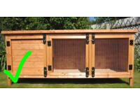 Rabbit and hutch with food hay sawdust everything included