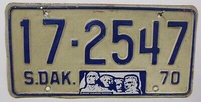 -1- SOUTH DAKOTA Kennzeichen 1970 License Plate ## USA Oldtimer-Nummernschild ≡