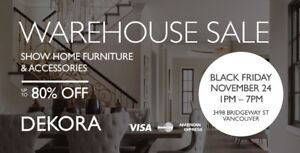 WAREHOUSE SALE - Furniture & Decor