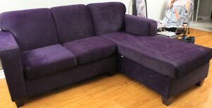 3 Seater Velvet/Fabric Sectional L Shape Sofa