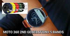 MOTO 360 2ND GEN WITH 5 BANDS