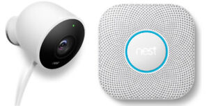Nest Cam (NC2100EF) and Nest Protect (S3000BWEF) - White (NEW)