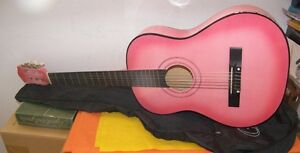 Ladies Colored Acoustic Guitar 6 String With Case