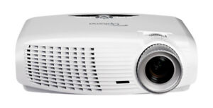 Optoma 1080P Projector with 100' motorized screen and extra bulb