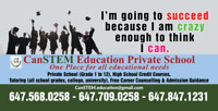 Private School Credit Courses, Adult/Internat. Students welcome