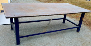"4×8x1""thick mint welding /Fab bench"